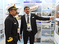 CMDE MN MENON, DNA, IHQ MOD(N), BEING EXPLAINED THE WORK DONE ON UPGRADATION OF BOATS BY YEOMAN MARINE SERVICES
