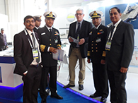 VICE ADMIRAL ANURAG G THAPLIYAL & VICE ADMIRAL S K JHA, CHIEF HYDRO VISITED OUR STALL